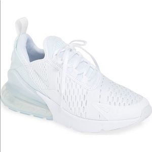 New Nike Air Max 270 Triple White Sneaker